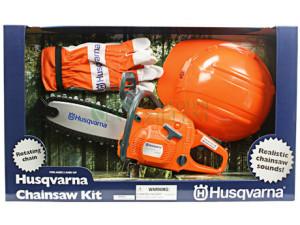 Pilarka Husqvarna 440 w zestawie z rękawicami i kaskiem - zabawka dla dzieci